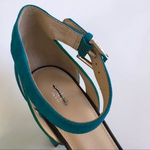 Botkier Shoes - Botkier   Gianna Suede Color Block Heeled Sandals